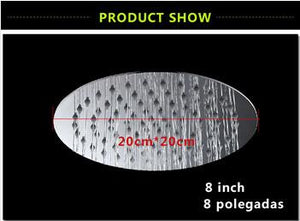 6/8/10/12 inch 304 stainless steel  Shower head Ultrathin Rainfall Shower Head Bathroom shower head