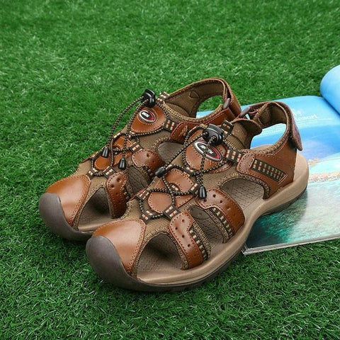 Genuine Leather Closed Sandal  for Men