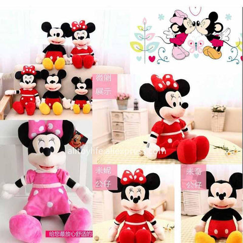 Mickey Mouse And Minnie Mouse Plush Toys  Stuffed Toys High Quality Gifts
