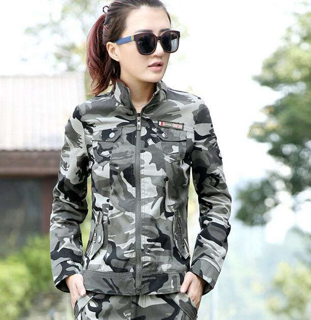 jacket Military Casual Short Design Camouflage Outerwear