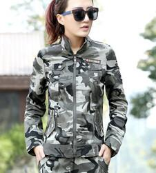 Military Casual Short Design Camouflage Outerwear