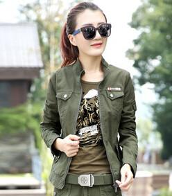 jacket Military Casual Short Design Camouflage Outerwear ARMY GREEN 1 / S