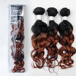Virgin Brazilian Human Hair Weaves Ombre Curly Hair Extensions Set Two Tone 7A T1B/30 High Quality 3 Pieces 150g/Pack