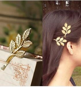 Wedding Hair Accessories Olive Branches Leaves Beautiful Bride Hairpin