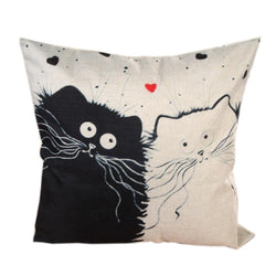 Cartoon images Linen Cotton Blend Cushion Cover Home Office Sofa