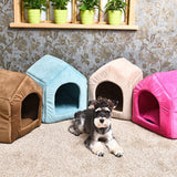 Pet House Great Quality Pet Kennel Easy to Take and Packaged Luxury Puppy Cat Room S/M/L 5 Colors 2 Using way