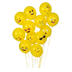 Emoji Balloons Smiley Face Expression Yellow Latex Balloons Party Wedding Balloon