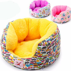 Circular Pet Dog Kennel Can Unpick And Wash High Quality Fleece Pet House Free Shipping Dog Bed