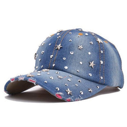 Baseball Cap Denim Decorated