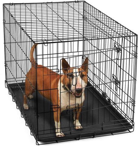 "Metal Pet Cage Kennel House for Animal 36"" Dog Crate"
