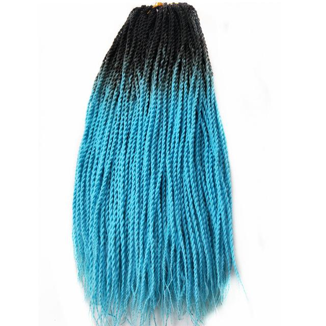 Senegalese Twist Braids T1B/Blue / 24inches / 1Pcs/Lot 1 Pack Synthetic Senegalese Twist Braids Extensions