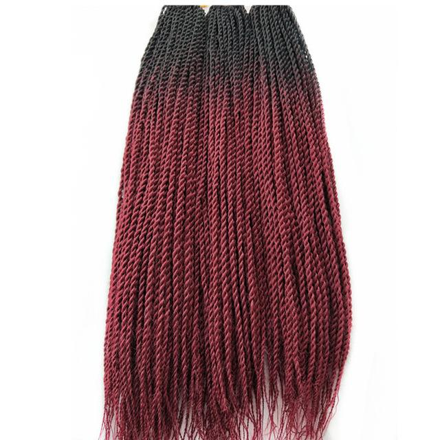 Senegalese Twist Braids T1b/118# / 24inches / 1Pcs/Lot 1 Pack Synthetic Senegalese Twist Braids Extensions