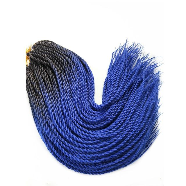 Senegalese Twist Braids #144 / 24inches / 1Pcs/Lot 1 Pack Synthetic Senegalese Twist Braids Extensions