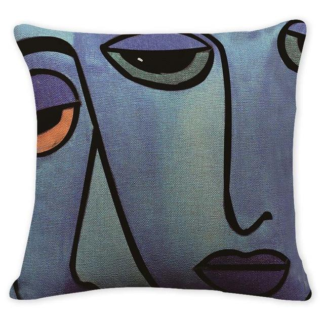 Cushion Cover Abstract Art Pillow Cases Oil Printed Picasso Pillow Cover 1150