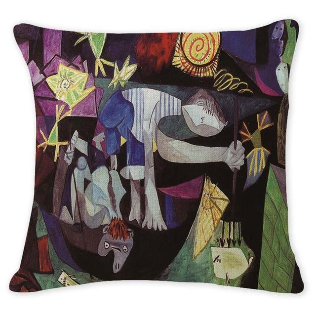 Cushion Cover 12941 Abstract Art Pillow Cases Oil Printed Picasso Pillow Cover