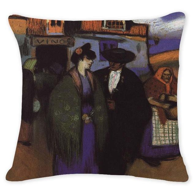 Cushion Cover 12944 Abstract Art Pillow Cases Oil Printed Picasso Pillow Cover