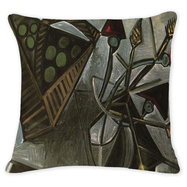 Cushion Cover 12945 Abstract Art Pillow Cases Oil Printed Picasso Pillow Cover