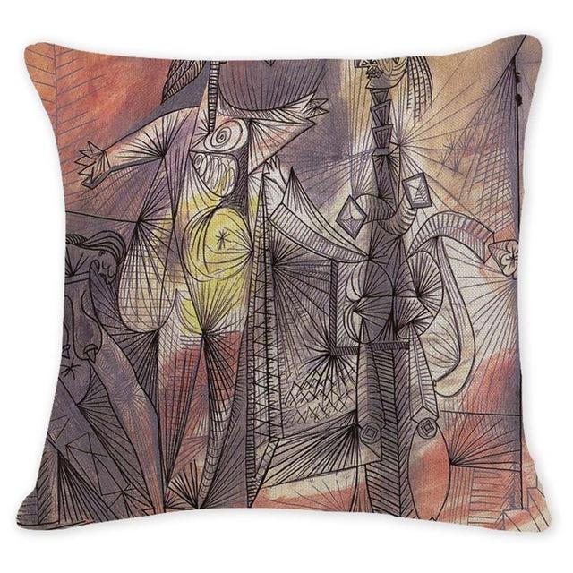 Cushion Cover 12946 Abstract Art Pillow Cases Oil Printed Picasso Pillow Cover