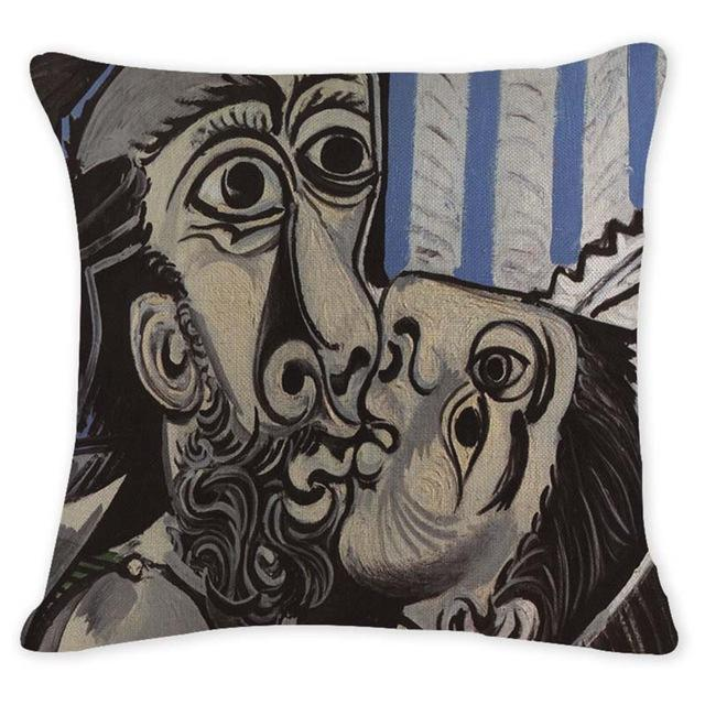 Cushion Cover 12947 Abstract Art Pillow Cases Oil Printed Picasso Pillow Cover