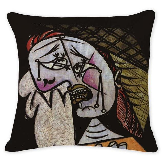 Cushion Cover 12948 Abstract Art Pillow Cases Oil Printed Picasso Pillow Cover