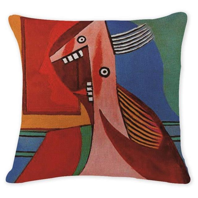 Cushion Cover 12950 Abstract Art Pillow Cases Oil Printed Picasso Pillow Cover