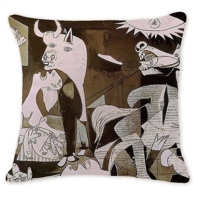 Cushion Cover 12951 Abstract Art Pillow Cases Oil Printed Picasso Pillow Cover