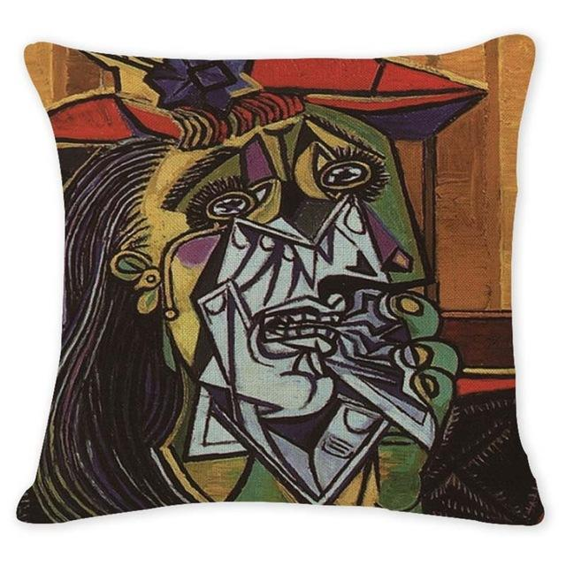 Cushion Cover 12954 Abstract Art Pillow Cases Oil Printed Picasso Pillow Cover