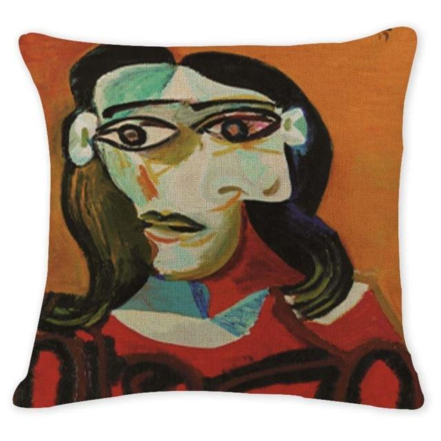 Cushion Cover 12956 Abstract Art Pillow Cases Oil Printed Picasso Pillow Cover