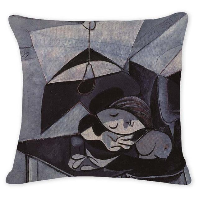 Cushion Cover 12957 Abstract Art Pillow Cases Oil Printed Picasso Pillow Cover