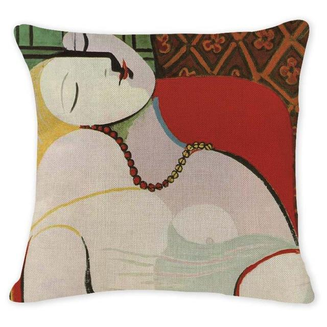 Cushion Cover 12959 Abstract Art Pillow Cases Oil Printed Picasso Pillow Cover