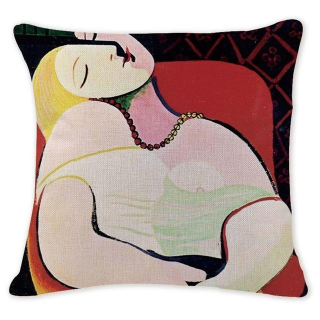 Cushion Cover 14257 Abstract Art Pillow Cases Oil Printed Picasso Pillow Cover