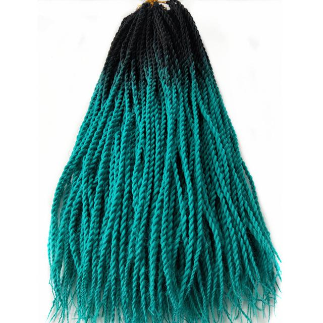Senegalese Twist Braids M1b/blue / 24inches / 1Pcs/Lot 1 Pack Synthetic Senegalese Twist Braids Extensions