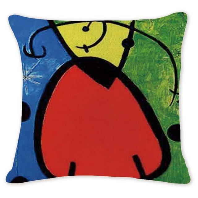 Cushion Cover 16440 Abstract Art Pillow Cases Oil Printed Picasso Pillow Cover