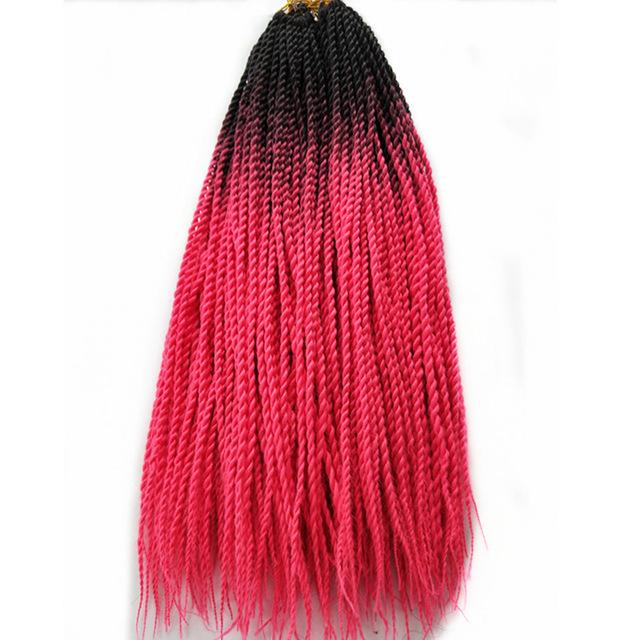Senegalese Twist Braids Pink / 24inches / 1Pcs/Lot 1 Pack Synthetic Senegalese Twist Braids Extensions