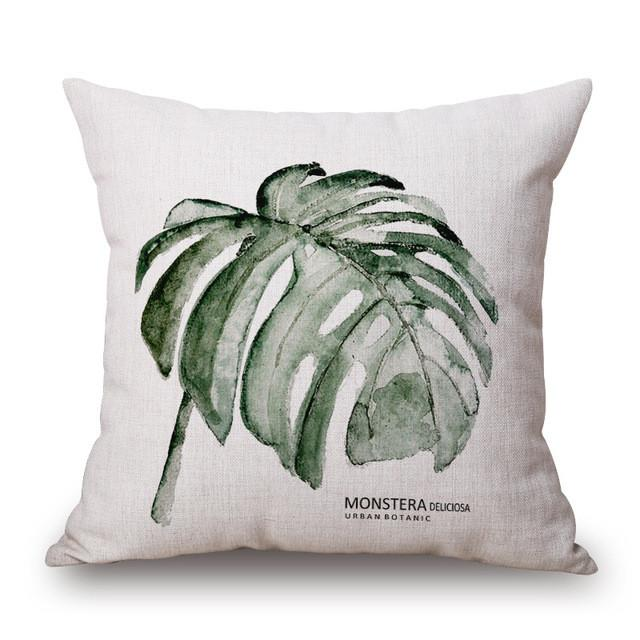 Cushion Cover 24 Green Leaf Tropical Plant Flamingo Birds Pillow Cases