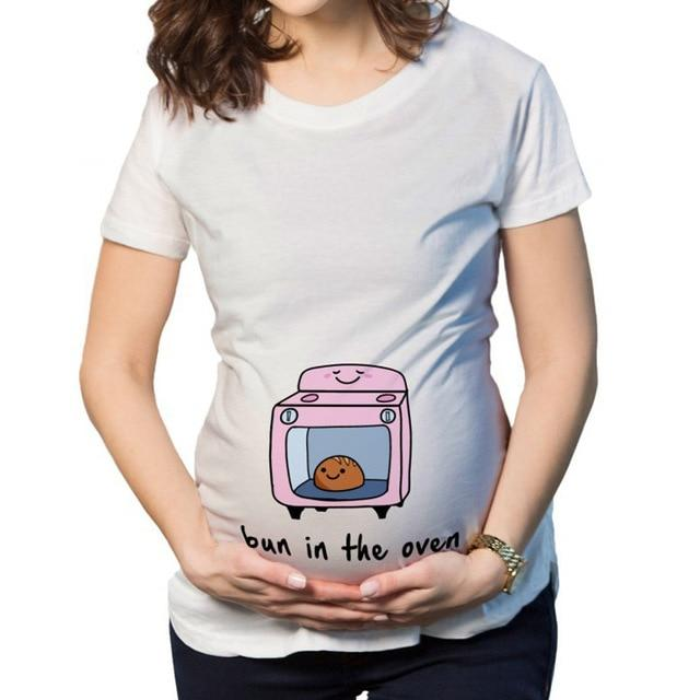 Tees Maternity T Shirts Short Sleeve Casual Pregnancy Clothes 2 / S