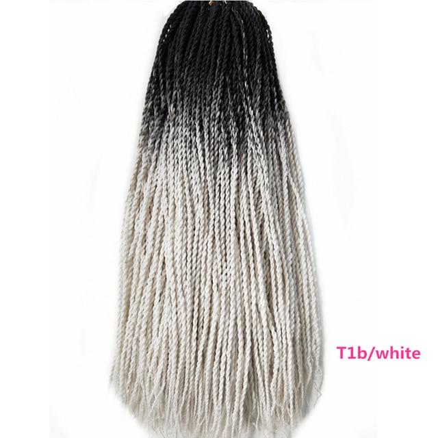 Senegalese Twist Braids #60 / 24inches / 1Pcs/Lot 1 Pack Synthetic Senegalese Twist Braids Extensions