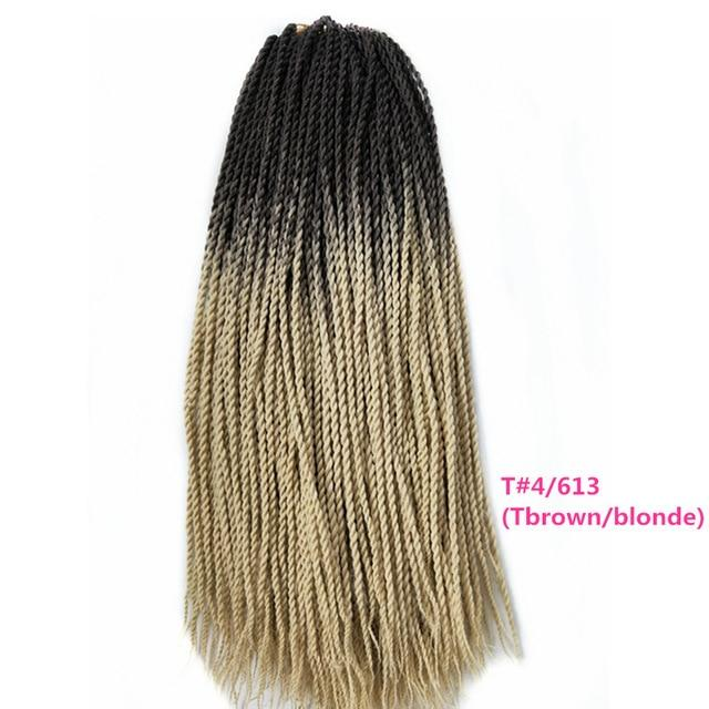 Senegalese Twist Braids 4/613 / 24inches / 1Pcs/Lot 1 Pack Synthetic Senegalese Twist Braids Extensions