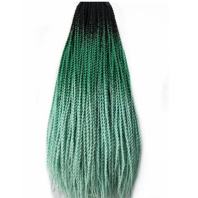 Senegalese Twist Braids Green / 24inches / 1Pcs/Lot 1 Pack Synthetic Senegalese Twist Braids Extensions