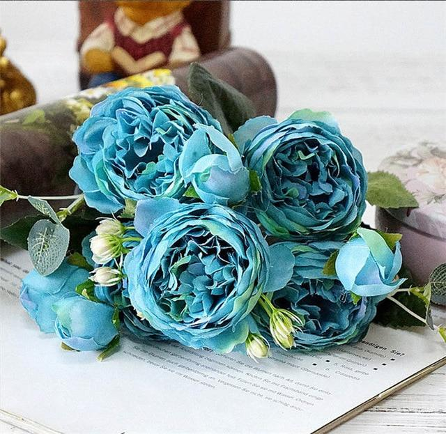 Artificial & Dried Flowers A49-5 Silk Rose Peony Artificial Flowers Home Decor