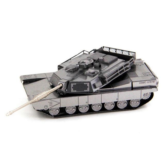 3D Puzzle Jigsaws Metal Toys 8 Styles tankers Toys for Adult Abrams battle tank