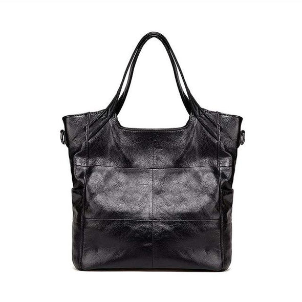 Classic Fashion Ladies Leather Handbag Black