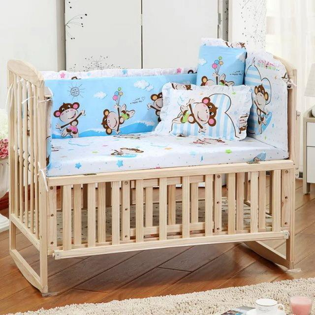 embroidery quilt prairie bedding product fitted crib fox education baby bumper cribs set bedskirt cotton designer comforters for early