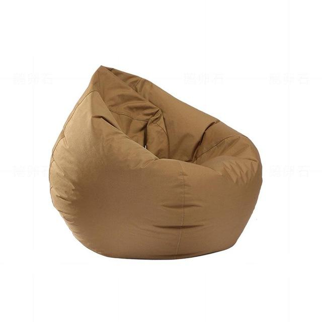 Stuffed  Bean Bag Chair Solid Color Brown