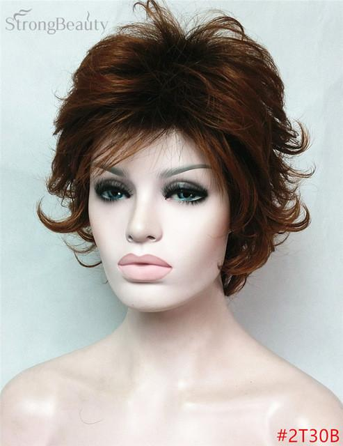 Short Body Wave Wig Ombre Black to Blonde Wigs Synthetic Hair