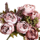 Artificial Peony Silk Decorative Party Flowers For Wedding Office Garden Decor