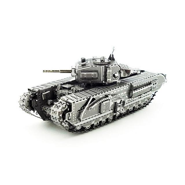3D Puzzle Jigsaws Metal Toys 8 Styles tankers Toys for Adult Churchill Tank