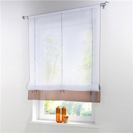 Blinds, Shades & Shutters Coffee / A 60X140CM Vertical Blind Tulle Curtains  Floral Sheer Panel Polyester