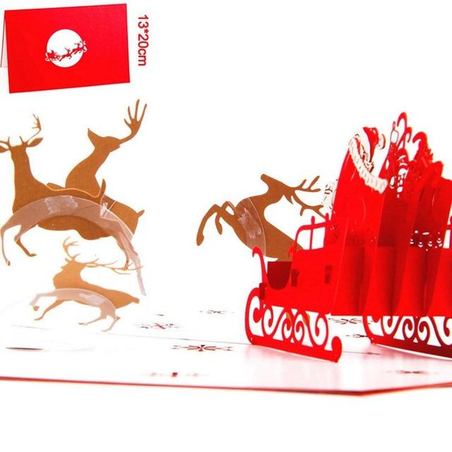 Cards & Invitations Pop Up Christmas Card  3D Greeting Cards D