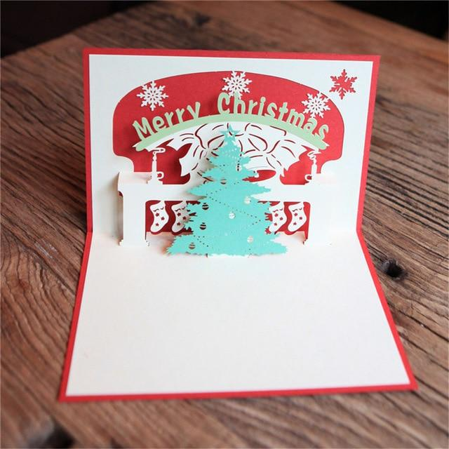 Cards & Invitations Pop Up Christmas Card  3D Greeting Cards E